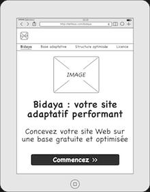 Prototype pour tablette