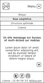 Maquette pour mobile : deuxième écran
